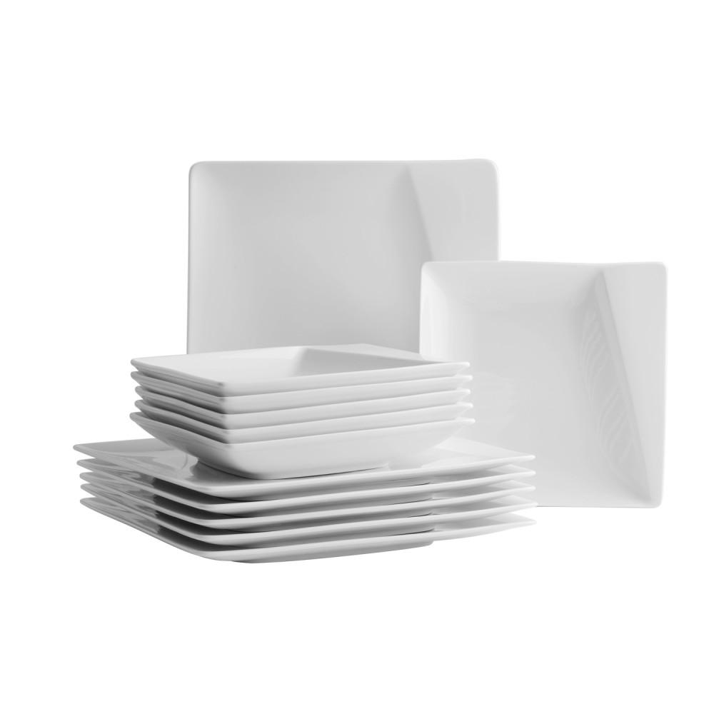 domestic professional 925106 quadro pi tafelservice wei f r 6 personen wei 12 teilig 1 set. Black Bedroom Furniture Sets. Home Design Ideas
