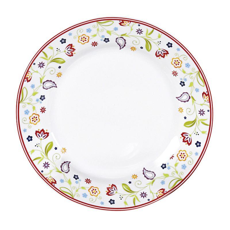 Frühstücksteller mit Paisley-Muster, Ø 20cm, Porzellan