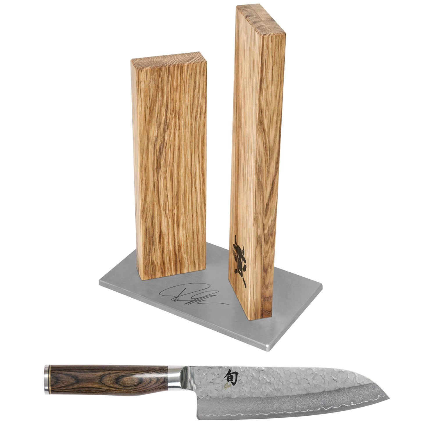 kai shun premier tim m lzer santoku messer messerblock. Black Bedroom Furniture Sets. Home Design Ideas
