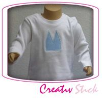 Baby langarm T-Shirt mit Dom Applikation