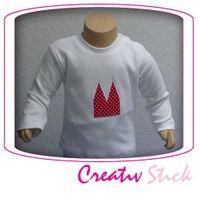 Baby langarm T-Shirt mit Dom Applikation