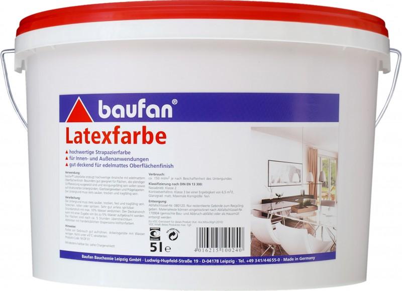 baufan latexfarbe 5 liter haus garten farben und putze innenfarben. Black Bedroom Furniture Sets. Home Design Ideas