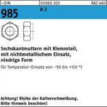 M6 DIN 985 A2 A 2 Sechskantmuttern mit Klemmteil