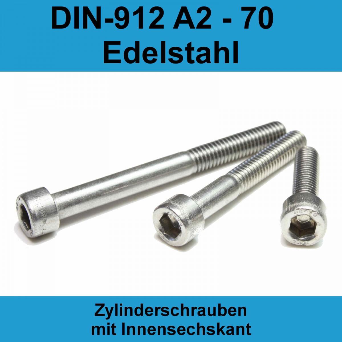 Innensechskantschrauben DIN 912 Edelstahl V4A M6 verschiedene Längen A4