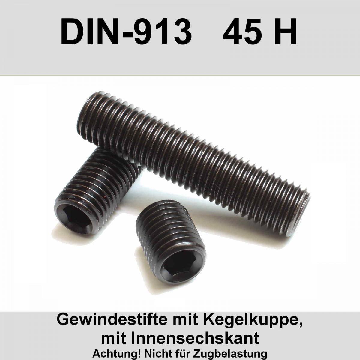 100 st Zylinder; Sechskant; HEX 2,5 mm Schraube; M3x8; DIN:912; Kopf