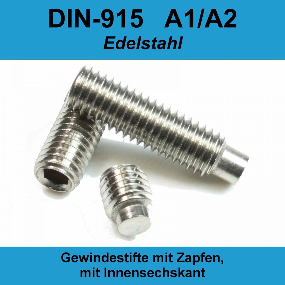 Edelstahl A2 Madenschraube.4x25 50 STK Gewindestifte M4x25 Spitze DIN914 mit Innensechskant u