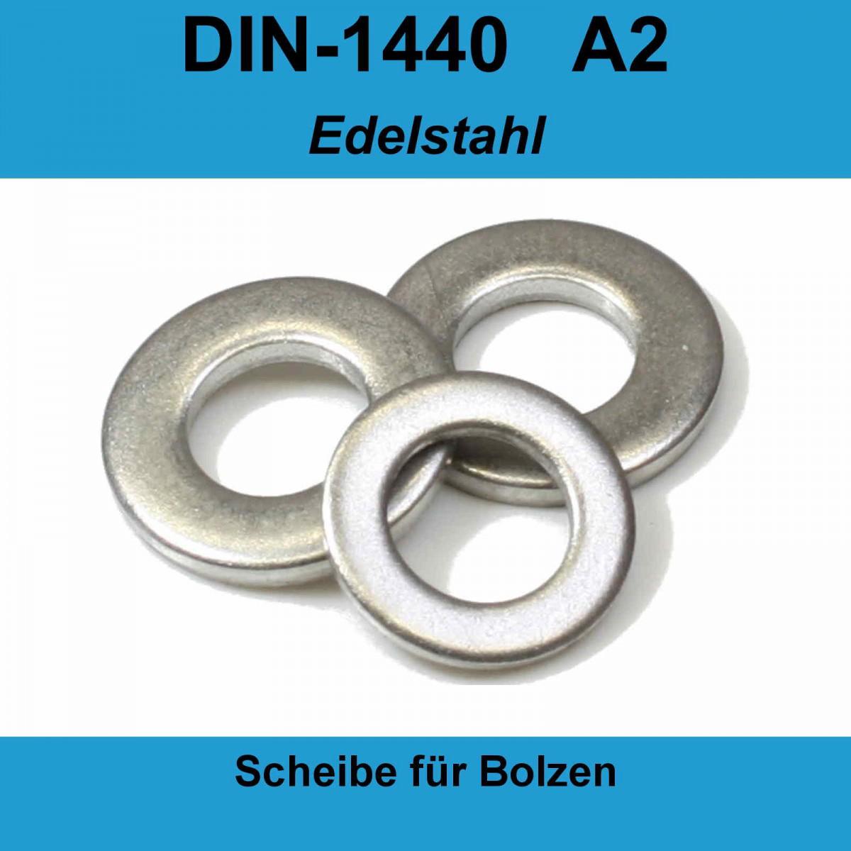 DIN 125 A ISO 7089 Unterlegscheiben Edelstahl A2  M1,6 M16    1,7-17,0 mm