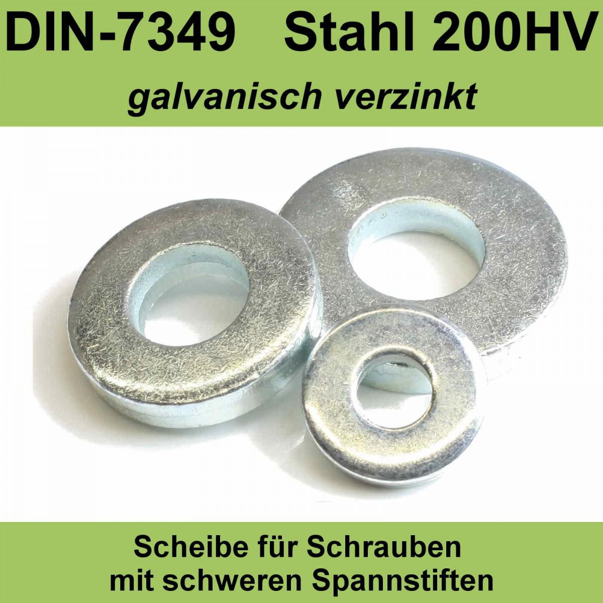 Unterlegscheiben DIN 125A verzinkt M8 200 Stück Beilagscheiben