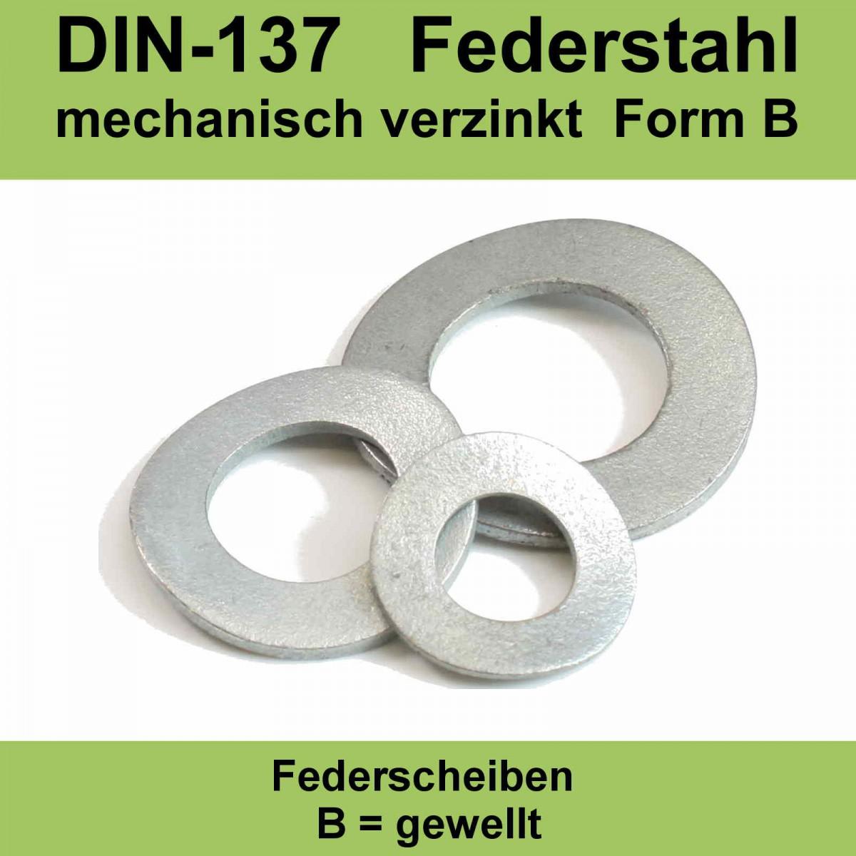 10 Stk Federscheibe B 06 DIN 137