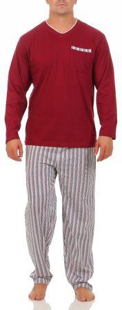 Langer Schlafanzug, Rundhals oder V-Ausschnitt langer Pyjama warm Baumwolle – Bild 18