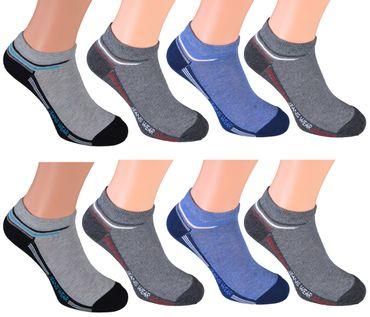 8 Paar kurze Sneakers-Socken für Herren - 6 verschiedene Top-Modelle wählbar  – Bild 2