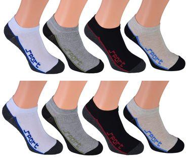 8 Paar kurze Sneakers-Socken Herren – Bild 5