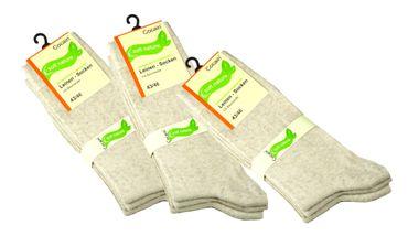 Leinen Socken nature – Bild 2
