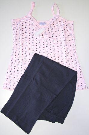 Kurzer modischer Pyjama mit Spaghetti Top und 3/4-langer Hose; luftige Baumwolle – Bild 5