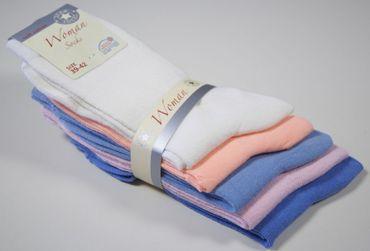 10 Paar Damen Socken, Komfortbund, NEU, unifarbige Pastelltöne – Bild 3
