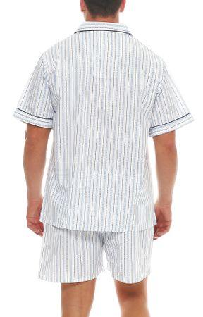 Kurzer Klassischer gewebter Pyjama Schlafanzug  – Bild 3