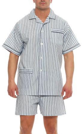 Kurzer Klassischer gewebter Pyjama Schlafanzug  – Bild 4