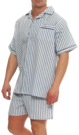Kurzer Klassischer gewebter Pyjama Schlafanzug  – Bild 5