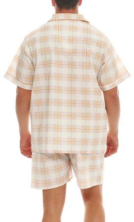 Kurzer Klassischer gewebter Pyjama Schlafanzug  – Bild 12