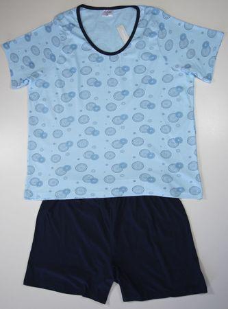 Kurzer Pyjama, kurzer Schlafanzug in tollen Farben und kurze Hose; L oder XL WOW – Bild 3
