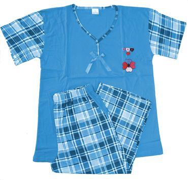 Damen Shorty Pyjama Schlafanzug  – Bild 5