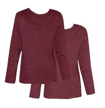 2 Stück Kinder Thermo Unterhemden, Langarm, langes Unterhemd innen angerauht uni – Bild 1
