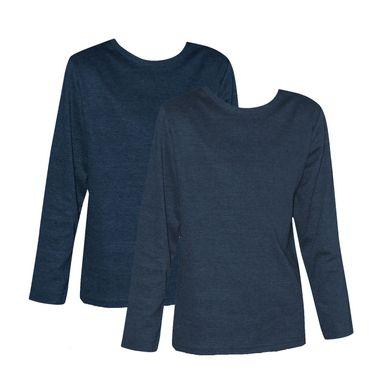 2 Stück Kinder Thermo Unterhemden, Langarm, langes Unterhemd innen angerauht uni – Bild 2
