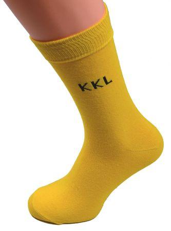 Business Arbeitssocken Anzug Socken Berufs mit ohne Einwebung KKL gelb Gr. 43 46