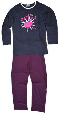 Langer Schlafanzug für Mädchen, Pyjama Langarm mit tollem Druck, weich und warm