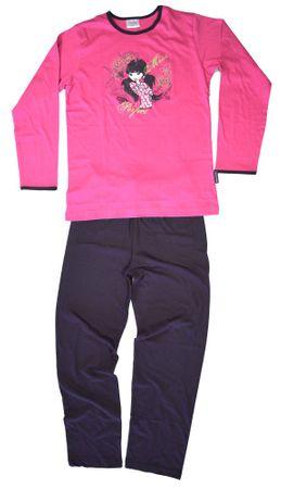 Langer Schlafanzug für Mädchen, Pyjama Langarm mit tollem Druck, weich und warm – Bild 2