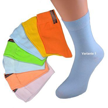 8er oder  16er Pack Damen Socken verschiedenen Uni Farben Weichbund ohne Gummi viel Baumwolle Gr. 35 36 37 38 39 40 41 42 – Bild 1