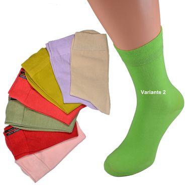 8er oder  16er Pack Damen Socken verschiedenen Uni Farben Weichbund ohne Gummi viel Baumwolle Gr. 35 36 37 38 39 40 41 42 – Bild 2