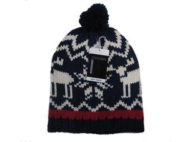 Dicke warme gestrickte Norweger-Mütze Markenware verschiedene Dessins weich warm – Bild 2