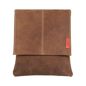 Flacher Messenger-Bag / Umhängetasche aus geöltem Buffalo-Leder - Extremely rugged Outback Wear