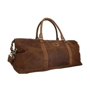 Vintage Weekender / Reisetasche aus geöltem Leder von Shalimar