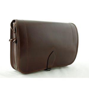 Klassische Jagdtasche - Damenumhängetasche aus Sattelleder v. Shalimar - Gr L