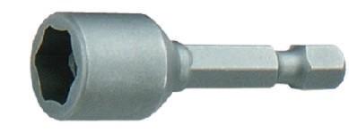 Steckschlüsseleinatz, magnetisch 1/4  SW 10 mm, kurze Ausführung
