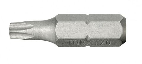 Bit für TORX Schrauben Größe 6, T6, 25 mm Länge - 10 Stück