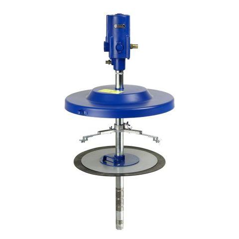 Fett-System 50:1, mit Zubehör Behälterbefestigung, Fettfolgekolben, Staubdeckel, Saugrohrlänge 700 mm.für 50 kg-Behälter mit Innendurchmesser 335 - 385 mm
