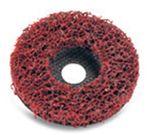 Bibielle Reinungsscheibe rot, Reinigungsvlies, rot, STRIP IT RED, 127 mm, Fiberglasteller, SDRR02