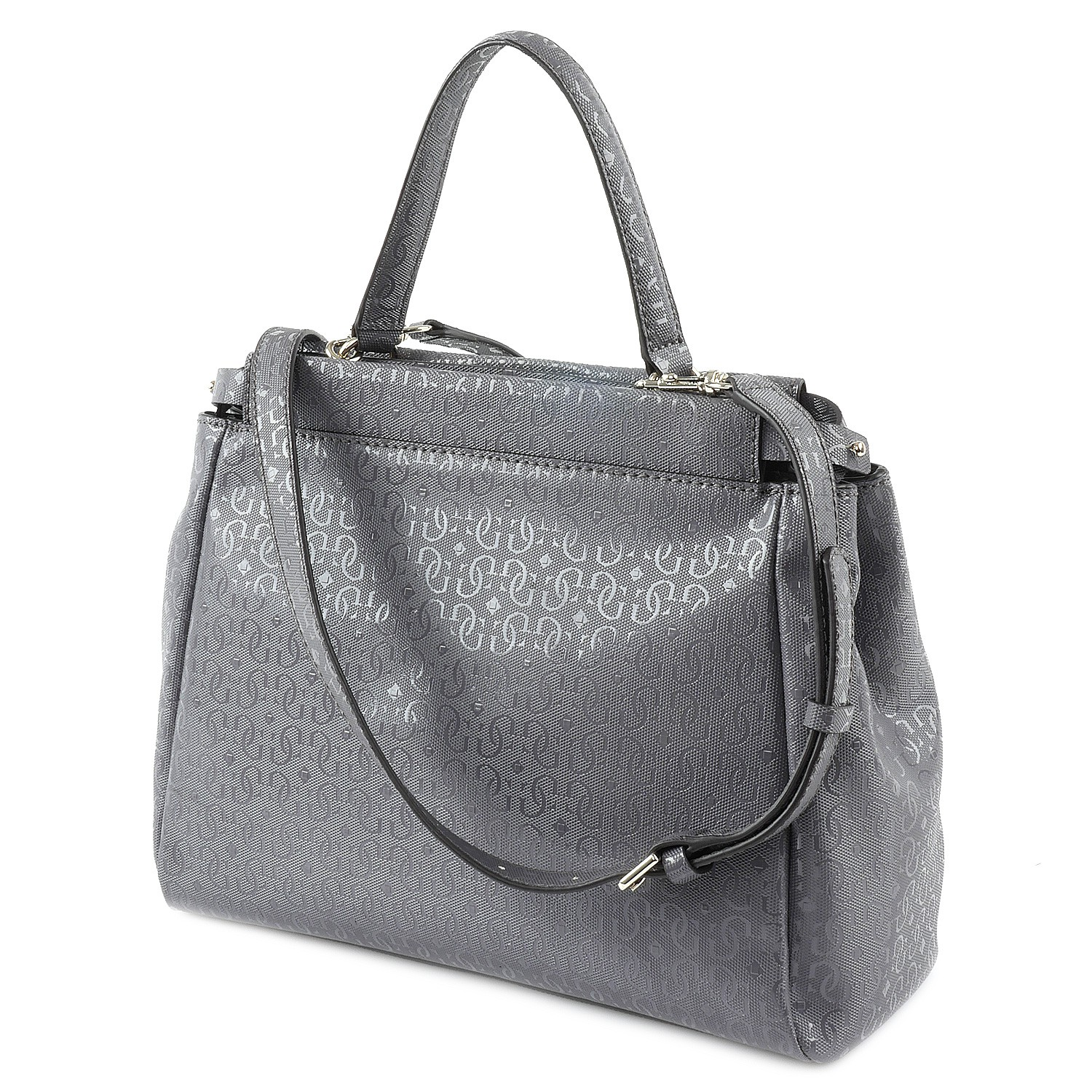 46dc8f5018 Sac Guess de Luxe Sac - Winett - Turnlock Sacoche - Gris | eBay