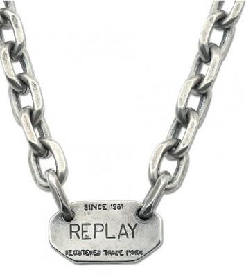 REPLAY Natives RAC13442 Halskette Messing Silber  günstig kaufen