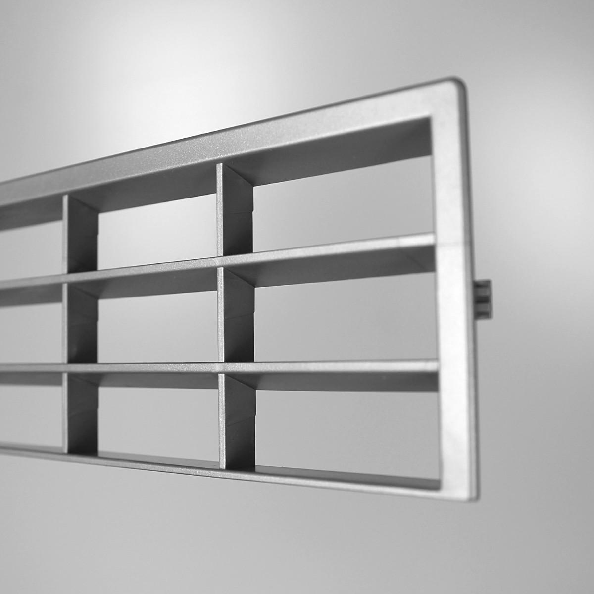 3 x bf bel ftungsgitter 806203 ps grau met uni 38 x 7 5 cm kunststoff k che sockelblende. Black Bedroom Furniture Sets. Home Design Ideas