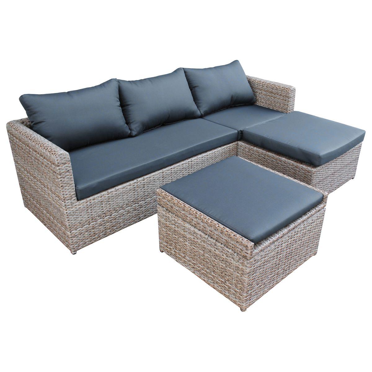 poly rattan lounge m bel gartenset garnitur polyrattan. Black Bedroom Furniture Sets. Home Design Ideas