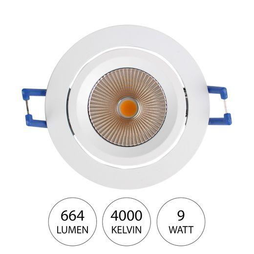 lumindo NOUN LED Deckenstrahler 9 Watt Deckenspot 4000K 664lm / 3000K 675lm