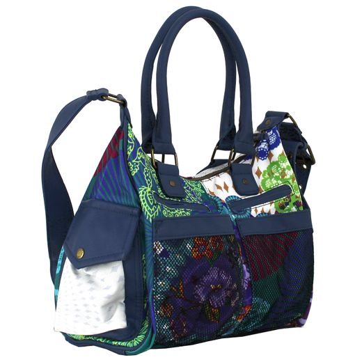 Desigual Bols London Floreada Carry Umhängetasche Handtasche Damentasche Tasche – Bild 4