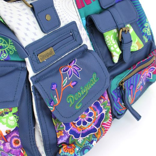 Desigual Bols London Floreada Carry Umhängetasche Handtasche Damentasche Tasche – Bild 3