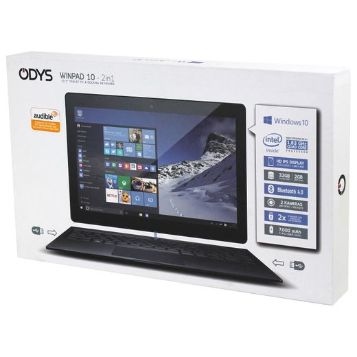 Odys Winpad 10 2in1 Convertible Tablet PC 1,83 GHz Quad Core 10,1 Zoll defekt