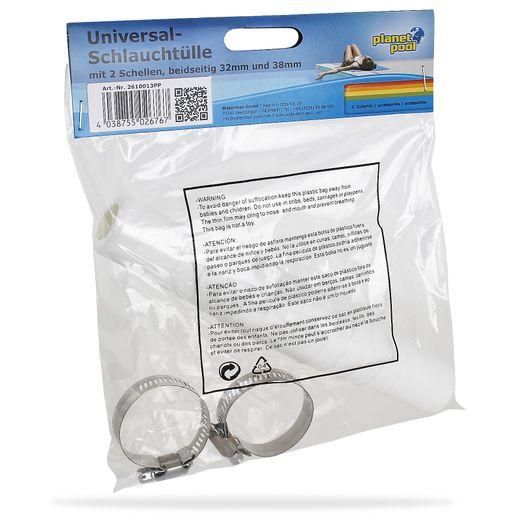 2x Planet Pool Universal Schlauchtülle Schlauchverbinder 32mm 38mm + 2 Schellen
