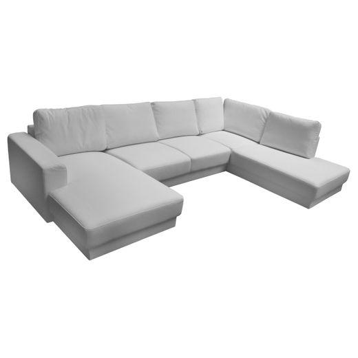 Couch Silas Weiss 300 x 200 cm Ottomane Rechts Designer Sofa Wohnlandschaft weiß